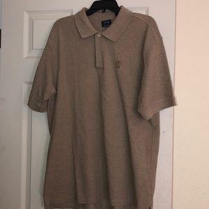 Izod Men's Taupe polo style shirt size XL